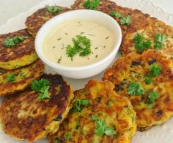 Corn and Zucchini Fritters with Chives (Gluten Free)