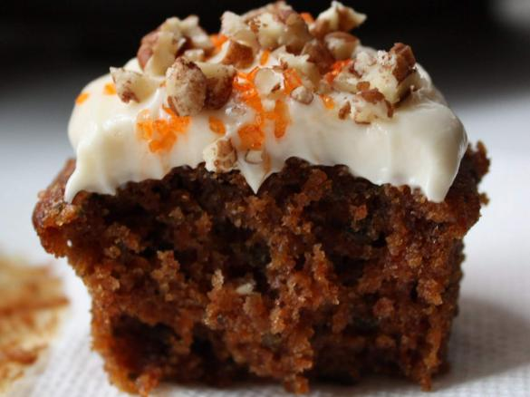 carrot and walnut cake cupcakes