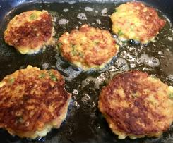 Corned meat (beef) and vegetable fritters