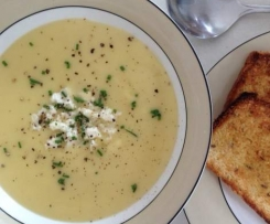 Parsnip & Potato Soup with Feta