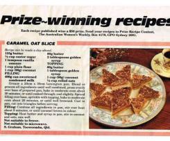 Trish's Slice - Caramel Oat Slice