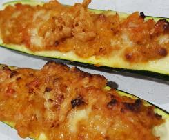 Chickpea stuffed zucchini