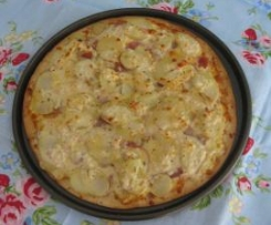 Creamy Potato & Proscuitto Pizza