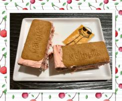 Cherry ripe ice-cream slice