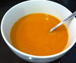 Fat free spicy tomato lentil soup
