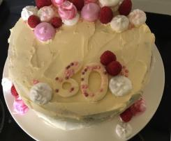 Raspberry Cake with Mascarpone Cream