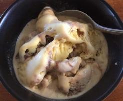 White Chocolate Hot Fudge Icecream
