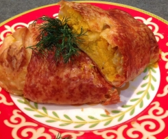 Carrot Cheese Parcels