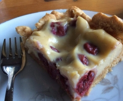 Cherry & Custard gluten free slice