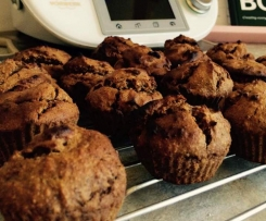 Banana, oat, almond and date muffins
