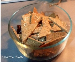 Simple Seed Crackers. Gluten Free, Grain Free, Nut Free, Dairy Free, Egg Free.