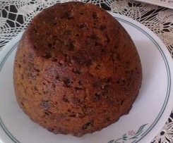 Easy Christmas pudding  with vegan options