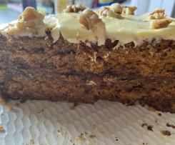 Fig and Walnut Carrot Cake with Caramilk Cream Cheese Icing