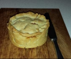 Hot Water Pastry Beef Mince Snack Pie