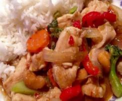 Variation Thai Chicken with Cashews