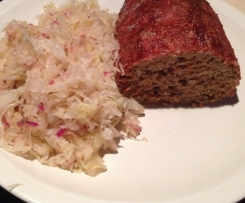 Healthy meatloaf (man approved!)