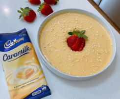 Caramilk Mousse with strawberries