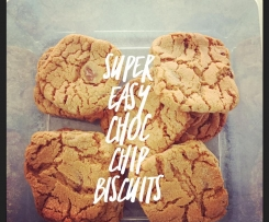 Super Easy Choc Chip Biccys