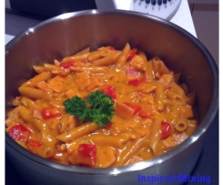 Creamy Bacon and Capsicum Pasta