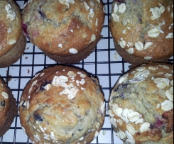 Coconut, Berry& Oat Muffins