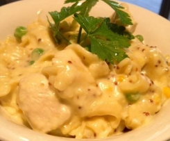Chicken and Creamy Mustard Pasta