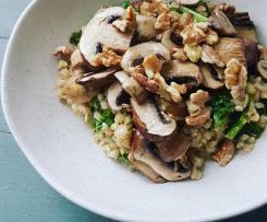 Mushroom, Kale and Barley Pilaf