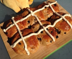 Chai Hot Cross Buns with Honey Spiced Crosses
