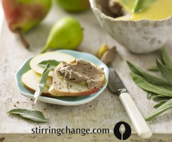 Pear and sage chicken liver pate