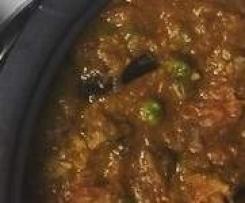 Bharta (eggplant curry)