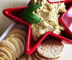 Cream cheese, cashew, basil and capsicum dip