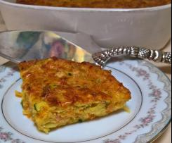 Bacon, sweet potato and zucchini slice
