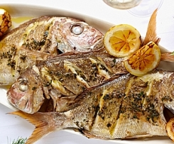 Garlic and Lemon Infused Whole Snapper