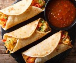 Spicy Vegetable Chapati Wraps