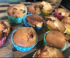 Easy Banana Choc Muffins