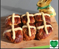 Erica & Arwen's Apricot & Hazelnut Hot Cross Buns