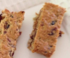 Cranberry Muesli Slice