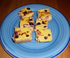 Blueberry and Passionfruit Cheesecake Slice