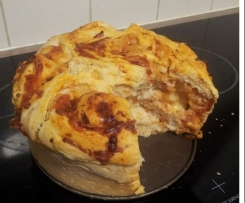 Pizza Pull Apart - Clone of Herb and Garlic Pull Apart Bread