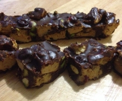 Pistachio and Cranberry Rocky Road (Gluten, Dairy and Refined Sugar Free)