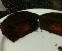 Cherry Ripe Cupcakes (Gluten Free)