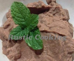 Healthy Chocolate Mint Sorbet