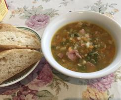 Smoked hock-bone soup