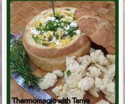 Creamy Pumpkin & Feta Cob Loaf
