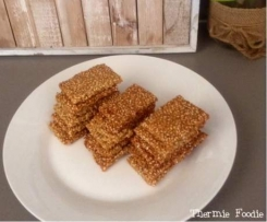 Simple Sesame Snaps (nut free, grain free, gluten free, refined sugar free, egg free, dairy free)