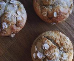 Wholemeal Buttermilk Banana Muffins