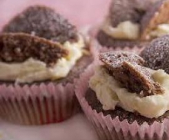 Chocolate Butterfly Cakes with Lemon Butter Icing