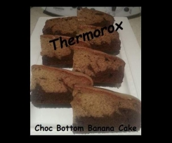 Choc Bottom Banana Cake