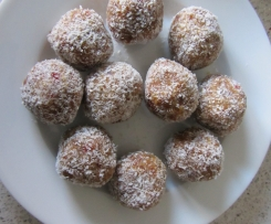 Chewy Almond and Goji Berry Truffles