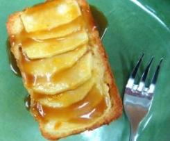 Apple Dessert Cakes with Caramel Brandy Sauce