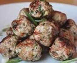 Asian Style Pork Meatballs